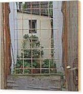 Memories Made Beyond This Old Door Wood Print