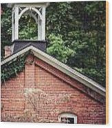 The Old Erie Schoolhouse Wood Print
