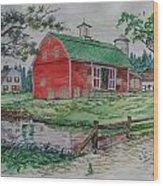 The Old Family Farm Wood Print