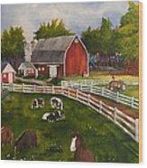 The Old Farm Wood Print