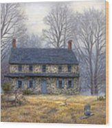 The Old Farmhouse Wood Print by Chuck Pinson