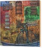 The Old Fashion Bike Wood Print