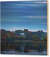 The Old Ferry House Wood Print by Steven Llorca