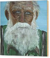 The Old Fisherman Wood Print
