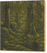 The Old Forest Wood Print