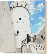 The Old Fort Wood Print by Peter Waters
