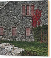 The Old Fort Bristol Rhode Island Wood Print