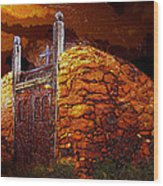 The Old Gates Of Galisteo Wood Print