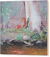 The Old Gum By The Creek Wood Print