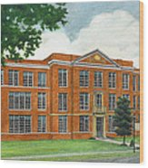 The Old High School Wood Print