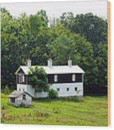 The Old Horse Barn Wood Print