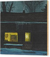 The Old House Wood Print