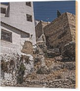 The Old Houses Of Ronda. Andalusia. Spain Wood Print