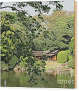 the old Japanese House by the water Wood Print