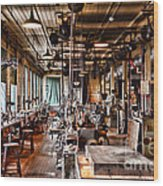 The Old Machine Shop Wood Print