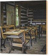 The Old Mikado Bailey School House Wood Print