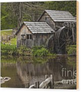 The Old Mill After The Rain Wood Print