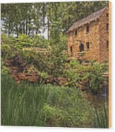 The Old Mill And Pond Wood Print