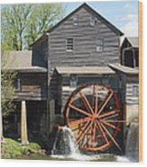The Old Mill In Pigeon Forge Wood Print by Roger Potts