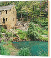 The Old Mill - North Little Rock - Pugh's Mill 1832 Wood Print by Gregory Ballos