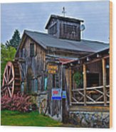 The Old Mill Restaurant - Old Forge New York Wood Print by David Patterson