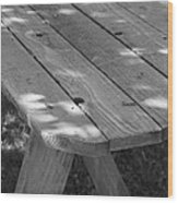 The Old Picnic Table Wood Print