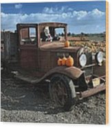 The Old Pumpkin Patch Wood Print