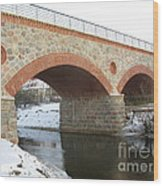 The Old Railway Bridge In Silute. Lithuania. Winter Wood Print