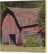 The Old Red Barn Wood Print