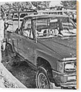 The Old Retro Truck Wood Print