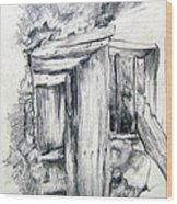 The Old Shade Wood Print