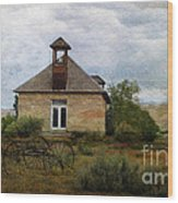 The Old Shell Schoolhouse Wood Print