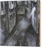 The Old Street Wood Print by Jamil Alkhoury