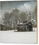 The Old Sugar Shack Wood Print by Edward Fielding