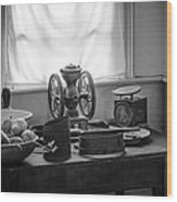 The Old Table By The Window - Wonderful Memories Of The Past - 19th Century Table And Window Wood Print by Gary Heller
