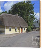 The Old Thatched Cottage Wood Print