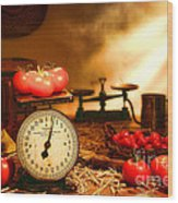 The Old Tomato Farm Stand Wood Print by Olivier Le Queinec
