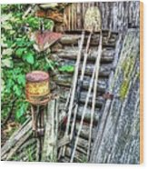 The Old Tool Shed Wood Print by Lanita Williams