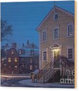 The Old Town House Wood Print
