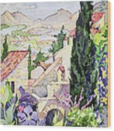 The Old Town Vaison Wood Print