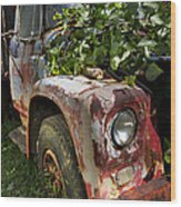 The Old Truck Wood Print