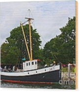 The Old Tugboat At Mystic Wood Print