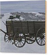 The Old Wagon Wood Print