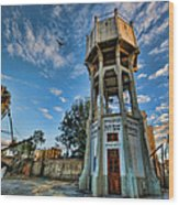 The Old Water Tower Of Tel Aviv Wood Print by Ron Shoshani
