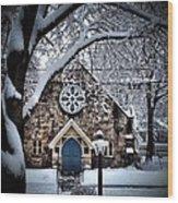 The Olde Stone Church Wood Print