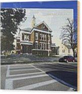 The Oliver School In Bristol Rhode Island Wood Print