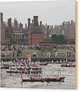 The Olympic Torch Leaves Hampton Court On The Final Leg Of Its J Wood Print
