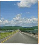 The Open Highway Wood Print
