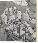 The Operation Theatre, 1966 Wood Print