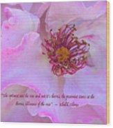 The Optimist Sees The Rose Wood Print